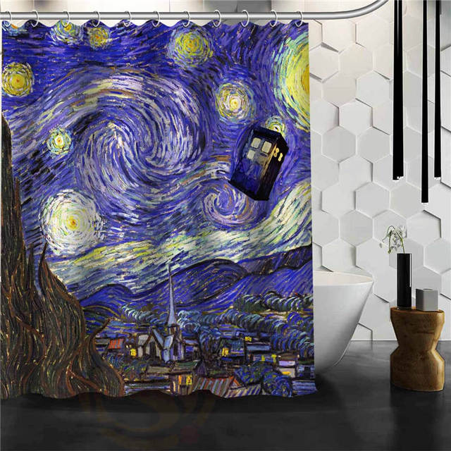 Custom Clic Doctor Who Police Box Bathroom Waterproof Shower Curtain Durable Decorative Best Gift