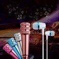 Portable Mini Cantar KTV Micrófono de Karaoke MICRÓFONO de Grabación w/Auricular Para Móvil PC Portátil Charlando Cantar Karaoke
