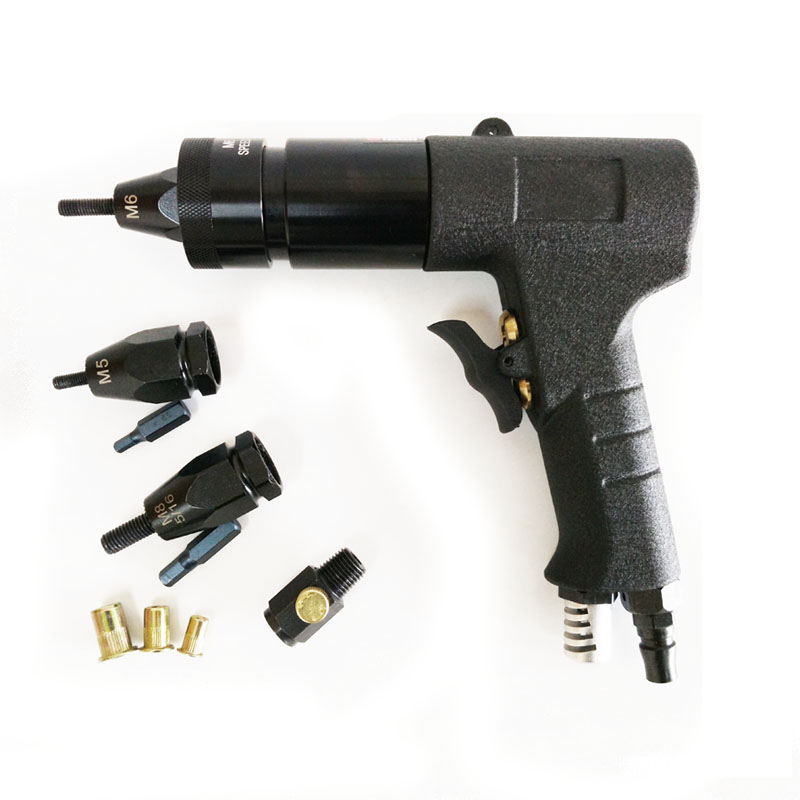 M5/M6/M8 Pneumatic Riveting Tool Self-Locking Pneumatic Pull Setter Air Rivet Nut Gun Tool
