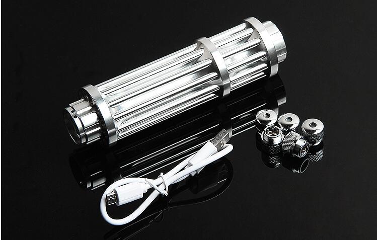 USB Haute Puissance 10 w 10000 m lampe de Poche pointeurs laser Bleu 450nm Combustion Correspondance bougie cigarette allumée méchants Lazer Torche chasse