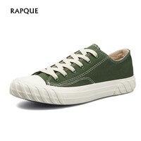 RAPQUE для мужчин's обувь вулканизованная низкая обувь холщовые кеды мужчин повседневное туфли без каблуков Лоферы для женщин мужской обув