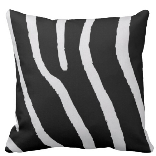 Fashion black white zebra print cushion cover decorative throw pillow case soft polyester sofa couch decor gifts two sides 18 in cushion cover from home