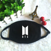 KPOP BTS 2017 New Album Logo Bangtan Boys K-POP Dust Cotton Mouth-muffle Face Masks Masques KZ186