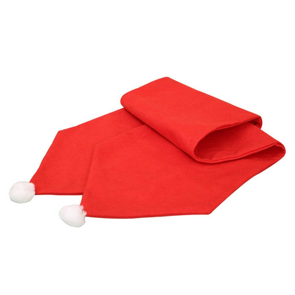 34x176 Cm Di Natale Runner Zerbino Tovaglia Di Natale Bandiera Casa Partito Decor Rosso Runners Per La Tavola Luminoso A Colori