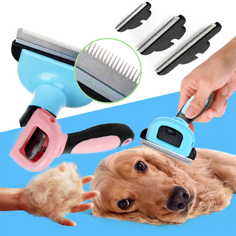 Detachable Pet Removal Hair Dog Comb Cat Grooming Brush Big Dogs Short Hair Deshedding Tool Medium Pets Trimmer Combs Drawknife Dog Combs Aliexpress