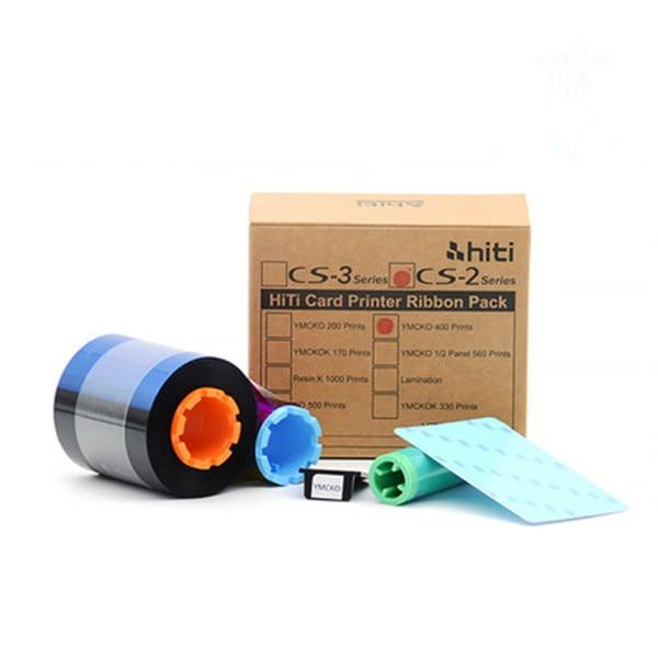 HiTi CS200e YMCKO 400 Images Ribbon original cs-220e card printer color ribbons evolis primacy plastic card printer r5f008saa ymcko color ribbon