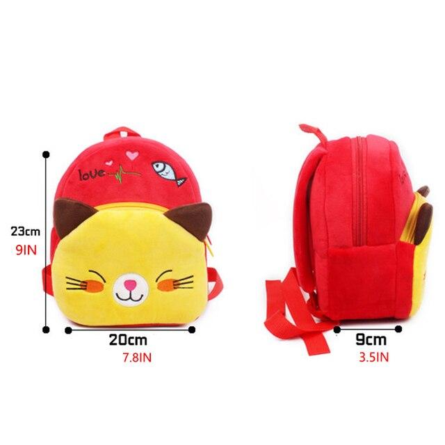 2019 Cartoon Kids Plush Backpacks Mini schoolbag Mickey Plush Backpack Children School Bags Girls Boys Backpack 1