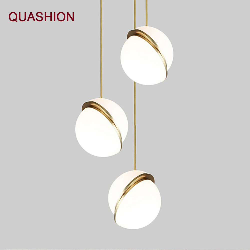 цена на Modern LED Round golden ball Pendant Lights Iron E27 Pendant lamp Hanging light fixture for Living Room Bedroom Dining Room