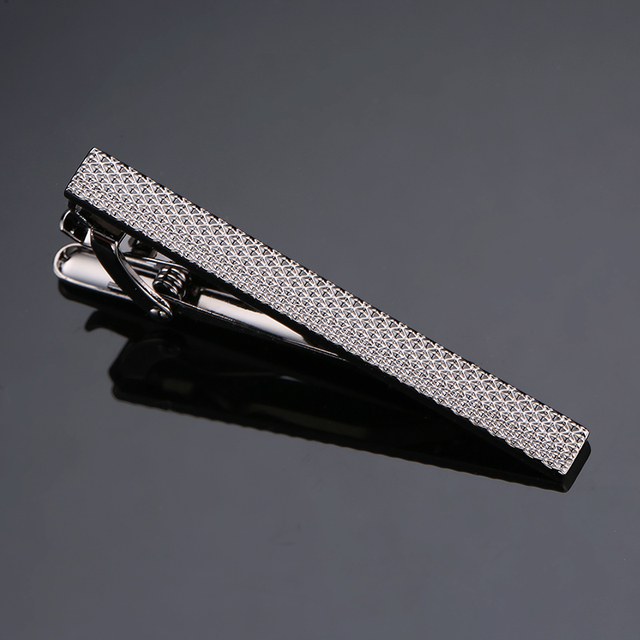 New Stylish Men Plating Metal Necktie Tie Bar Clasp  4