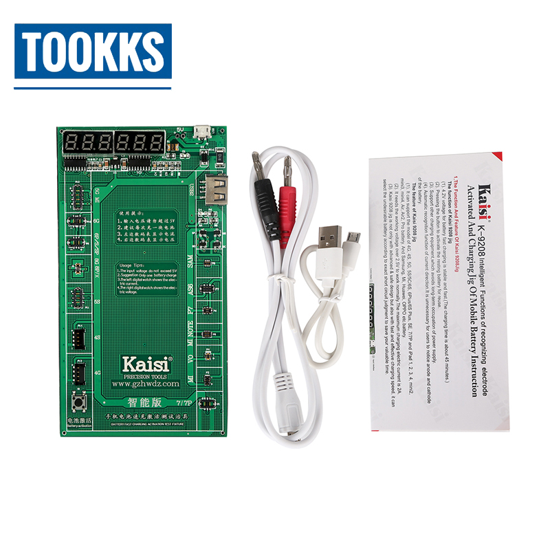 Tools Kaisi K-9208 Battery Activation Charge Board Display Cable Jig For Iphone Huawei Mobile Phones And Ipad