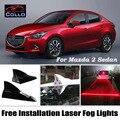 Instalação gratuita Para Mazda 2 sedan Mazda2 Demio/Energia Solar Laser de Barbatana de tubarão Luz de Nevoeiro/Lâmpada de Advertência/Decoração Do Carro