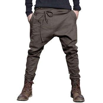 Casual Sagging pants men Trousers h