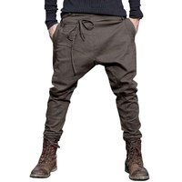 Men Harem Pants Brand 2016 Casual Sagging Pants Men Trousers Drop Crotch Pant Men Joggers Feet