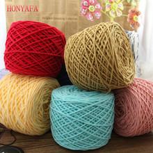 400g lot Merino Wool Yarn Brand Cotton Knit Thick Yarns for Knitting Super Soft Sewing Crochet Thread Free Needle cheap Acrylic Blended Yarn Dyed Ring Spun Anti-static Hand Knitting HONYAFA 99 9 Cashmere Acrylic Worsted Hong-Y