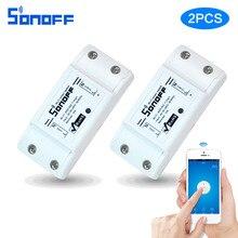 2 unids Sonoff Wifi Inalámbrico Interruptor Universal Módulo Domótico Inteligente Temporizador Diy inteligente de Control Remoto A Través de IOS Androidi