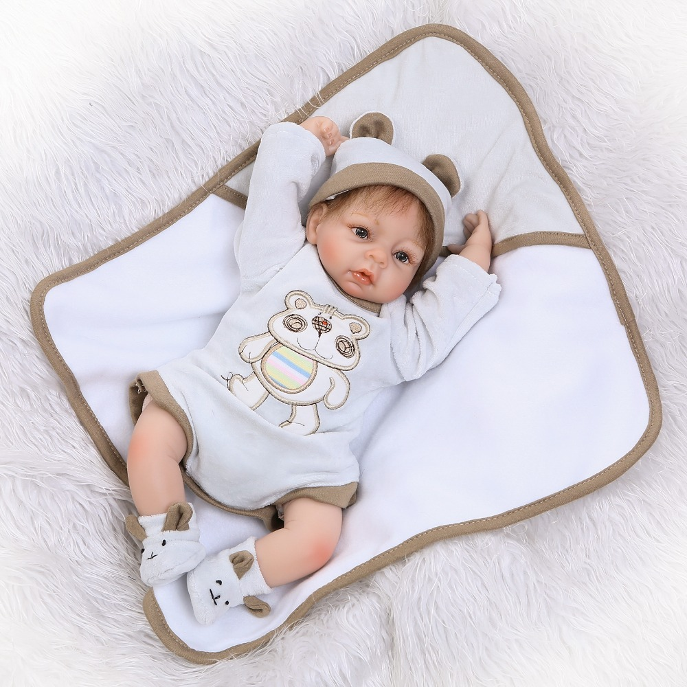 40cm Silicone Reborn Babies Dolls Toys Lifelike Lovely 16inch Newborn Boy Baby Doll For Children Birthday Gifts Xmas Present free shipping hot sale real silicon baby dolls 55cm 22inch npk brand lifelike lovely reborn dolls babies toys for children gift