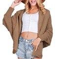 Длинный кардиган свитер моды для женщин осень зима трикотажные джемперы свитера негабаритных свободные batwing рукавом теплый трикотаж пальто макси