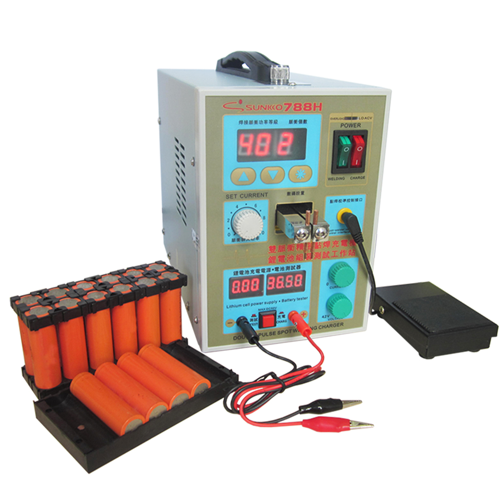 788H spot welding machine LED lighting double precision pulse spot welding charging one machine pulse spot welding machine EU US