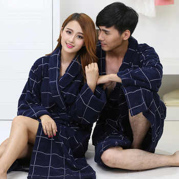 2016 Winter hot pure cotton satin plaid bathrobes robe Unisex long-sleeve terry bathrobes thicken home casual sleepwear pajamas - DISCOUNT ITEM  34% OFF All Category