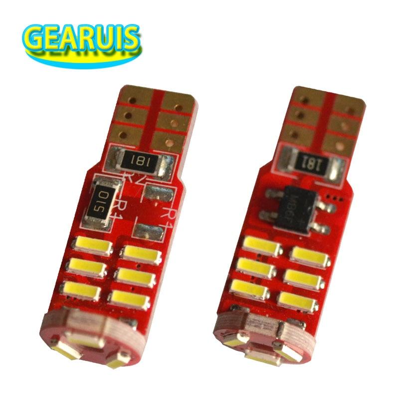 100pcs T10 Canbus 160MA Non polar 15SMD 501 4014 SMD Chip Led Car Auto Interior License