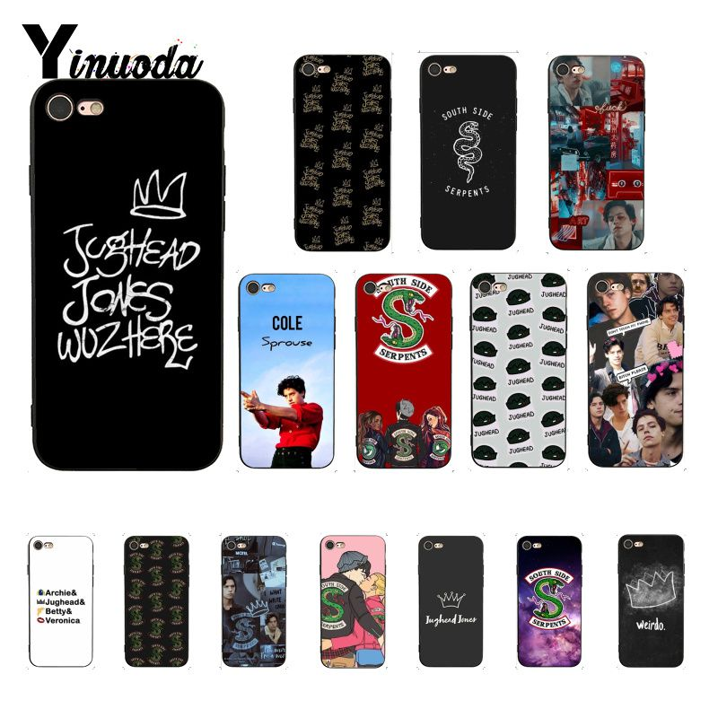 Yinuoda <font><b>tv</b></font> riverdale Jughead <font><b>Jones</b></font> TPU schwarz Telefon Fall Shell für iPhone 8 7 6 6 S Plus X XS MAX 5 5 S SE XR 10 Abdeckung image