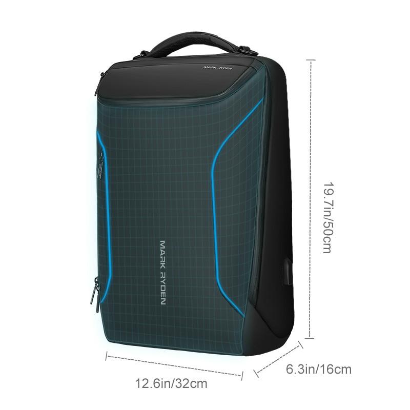 Mark Ryden 2019 chaud Anti-voleur mode hommes sac à dos multifonctionnel étanche 17.3 pouces pochette d'ordinateur homme USB charge voyage
