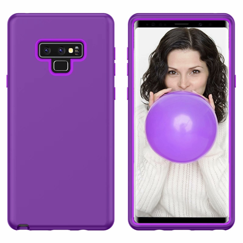 Note 9 3 in 1 Soft TPU+Hard PC+Screen Colorful Back Case Cover for Samsung Galaxy Note 9 Ultra Slim Back Case for Samsung Note 9