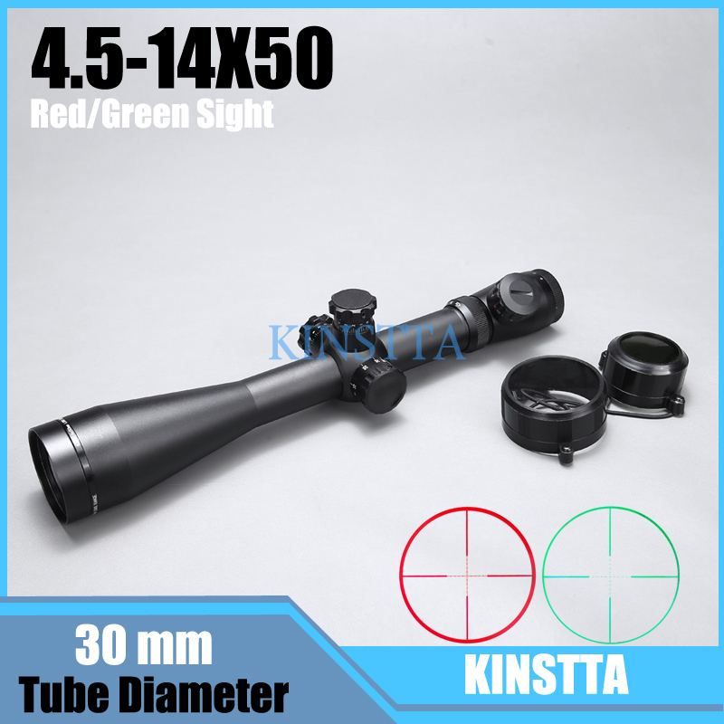 4.5-14X50 M1 Riflescope Mil Dot Illuminated Red Green Dot Rifle Scope Optical Riflescopes 30mm Tube Hunting Scope For Airsoft 4x 30mm red green mil dot reticle rifle scope with gun mount black 3 x ag13 1 x cr2032