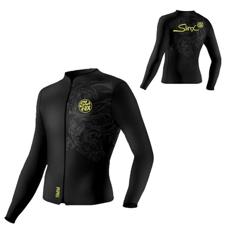 Slinx 1109 5mm Neoprene Dive Jacket Wetsuit For Women Men Surfing Windsurfing Swimwear Waterski Water Craft