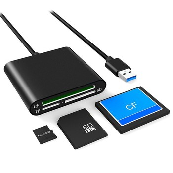 All in One USB 3.0 Card Reader Adapter MicroSD SD TF CF Card Reader Aluminum For PC Laptop