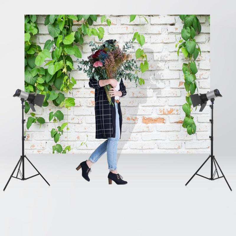 Image 4 - Green Plant Brick Texture Photography Background Cloth Backdrop Photo Decor For Photo Studio-in Background from Consumer Electronics