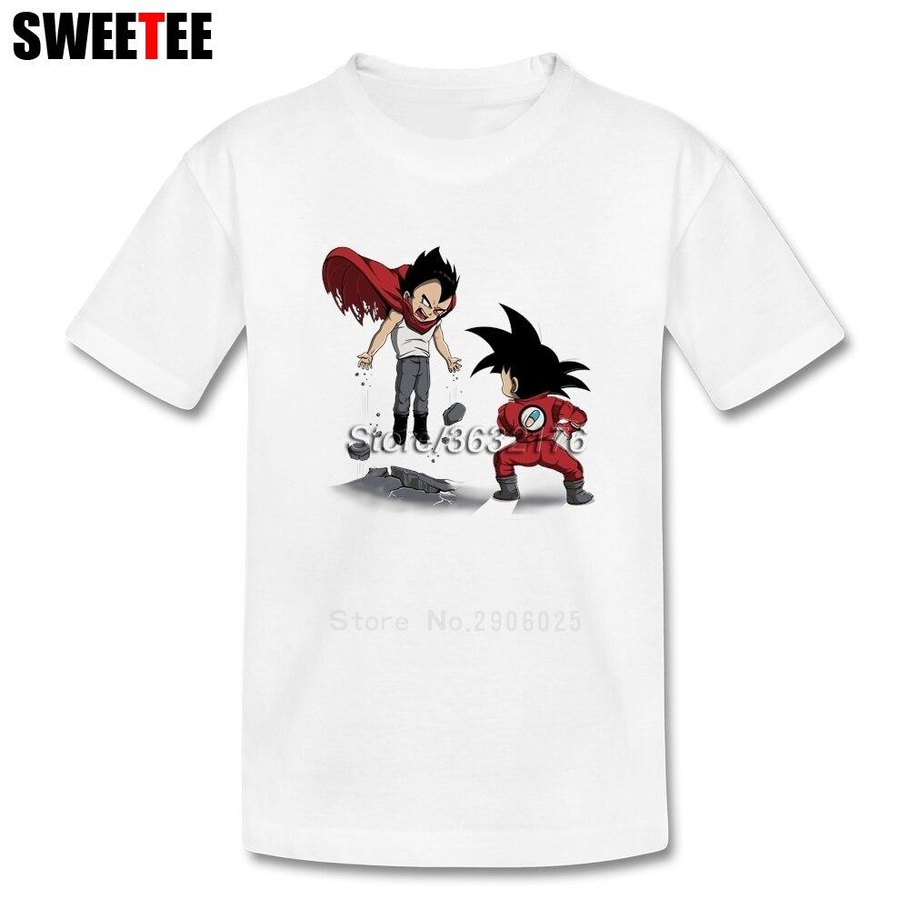 Anime Fight Children T Shirt 100% Cotton Short Sleeve O Neck Tshirt Tee Shirt Boys Girls 2018 Little T-shirt For Kid dragon ball