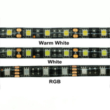 DC12V 5m 5050 LED Strip 60LED/m  White / Warm RGB Black PCB