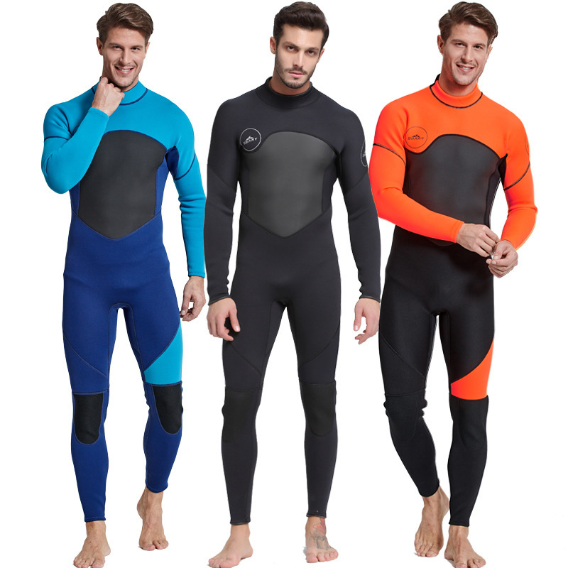 2019 High Quality New 3mm Cool Black Diving Triathlon Neoprene Wetsuit for Swimming Surf Men Scuba Equipment Split Suits M 3XL-in Wetsuit from Sports & Entertainment    1