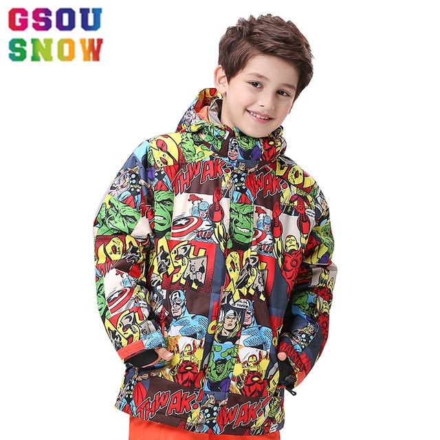 954cf9136 GSOU SNOW Ski Jacket Kids Winter Outdoor Children Warm Colorful ...
