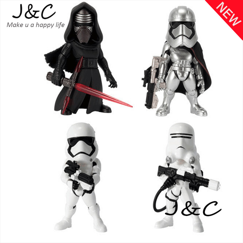 Star Wars 5-6cm The black knight white storm sodliers Action Figure Model Toy Warrior Stormtrooper Robot Vader Yoda Toy Gift