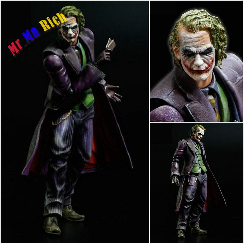Play Arts Kai Batman The Dark Knight The Joker Brinquedos Pvc Action Figure Collectible Model Doll Kids Toys 27cm the avengers infinity war batman arkham knight play arts kai 27cm bruce wayne dc comics pvc action figure model toys l1060