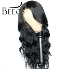 BEEOS Body Wave Brazilian Remy Deep Part 13*6 Lace Front Human Hair Wig