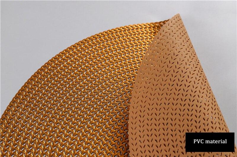 38CM Hotel Restaurant Round PVC Placemat Nordic Anti-scalding Insulation Table Mat Steak Pad (14)