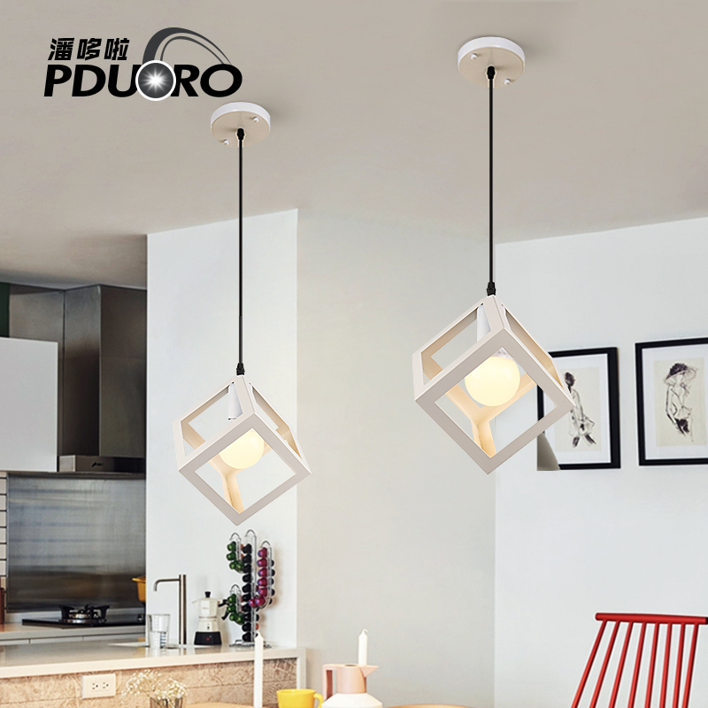 Vintage Loft Pendant Lights Nordic pendant lamps Square Suspension for living room Kitchen restaurant office luminaire Hanging