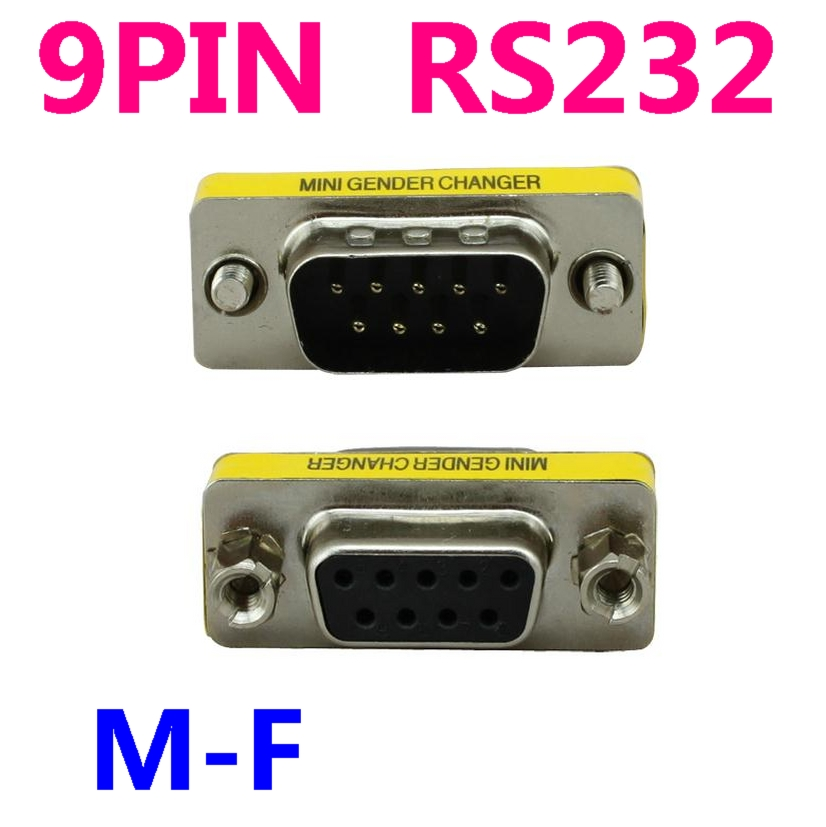 9 Pin RS 232 DB9 Male to FEMALE Serial Cable Gender Changer Coupler Adapter