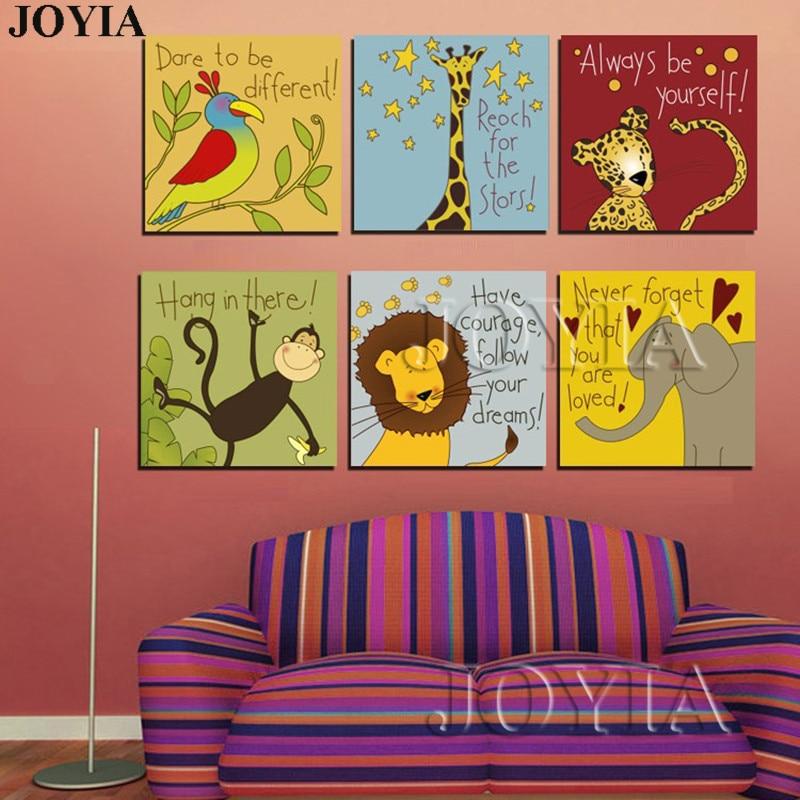 Animales de dibujos animados lema lona animados cotizaciones ...