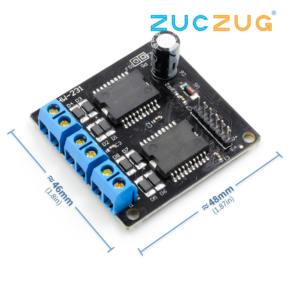 New Dual <font><b>MC33886</b></font> Motor Driver Module 5A for Robot Smart car 5-12V image