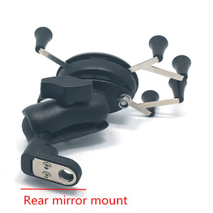 Image 4 - Jadkinsta Motorrad Lenker Rückspiegel Montieren Schienen X Grip für Gopro Handy Smartphone Halter für iPhone 7 7 + 6s Ram Halterungen