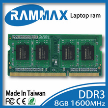 New sealed Laptop DDR3 Ram Memory 1x8GB SO-DIMM1600Mhz PC3-12800 CL11 204pin high compatible motherboard for Notebook Ultrabook