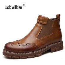 Jack willden/мужские ботинки челси из натуральной кожи; ботильоны; модные мужские брендовые кожаные качественные слипоны; мужские теплые мотоциклетные ботинки