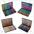 40 шт./лот профессиональный макияж палитра 120 полный цветов палитры Eyeshadow мерцание матовая голый косметика составляют палитра