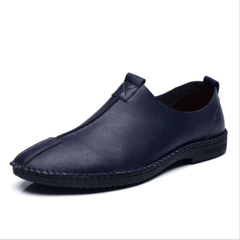 Big Size 38~44 High Quality Genuine new Leather Men Shoes Soft Moccasins Loafers Fashion Brand Men Flats Comfy Driving   Shoes 2017 new brand breathable men s casual car driving shoes men loafers high quality genuine leather shoes soft moccasins flats