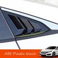 Для Honda Civic 10th Gen 4dr Sedan 2016-2019 ABS черный задний треугольник окна жалюзи крышка отделка автомобиля Стайлинг Аксессуары 2 шт
