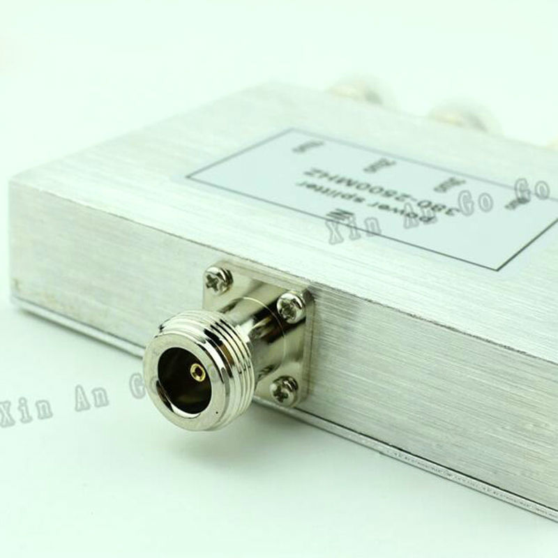 US $17 8 |New 4 Way N Power Splitter 380mhz~2500MHz,N female power divider  signal cable splitter female divider Free shipping-in Connectors from